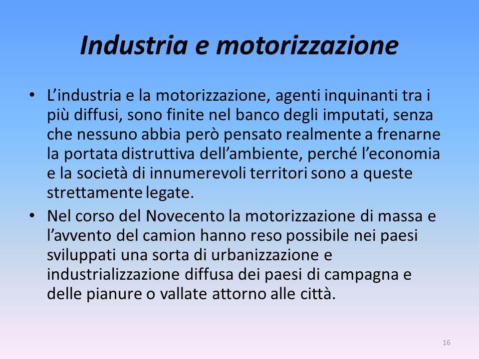 Industria e motorizzazione