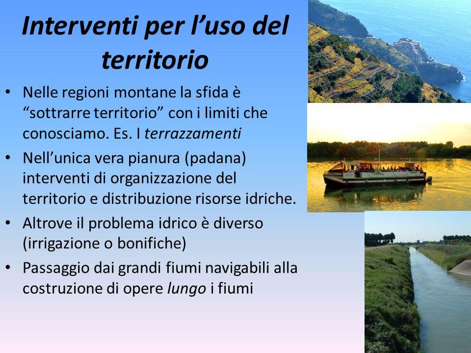 Interventi per l'uso del territorio