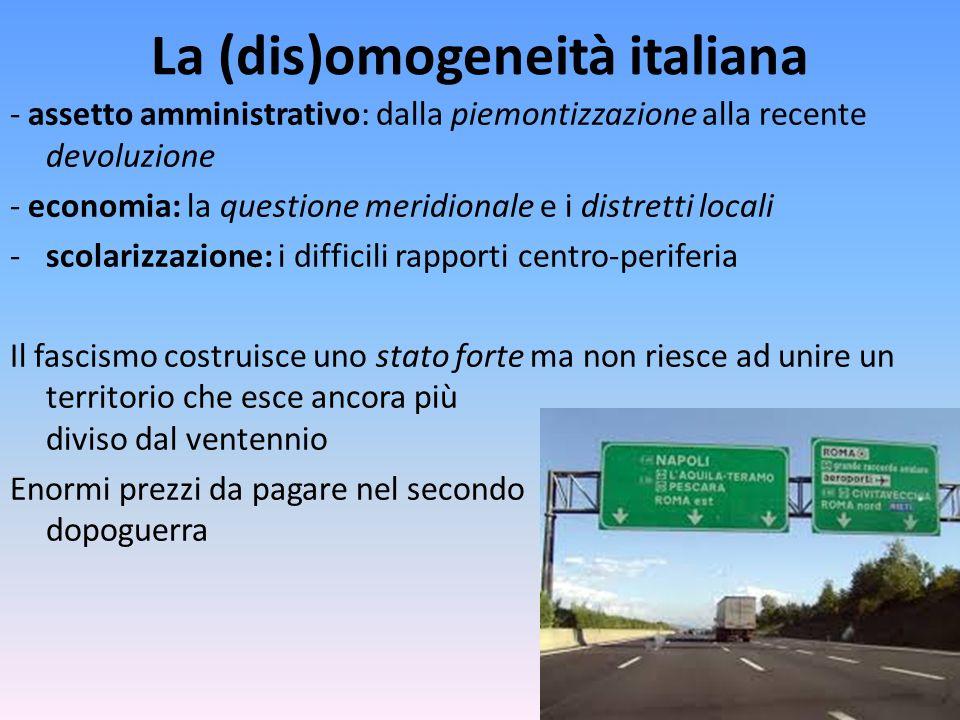 La (dis)omogeneità italiana