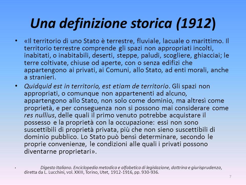 Una definizione storica (1912)