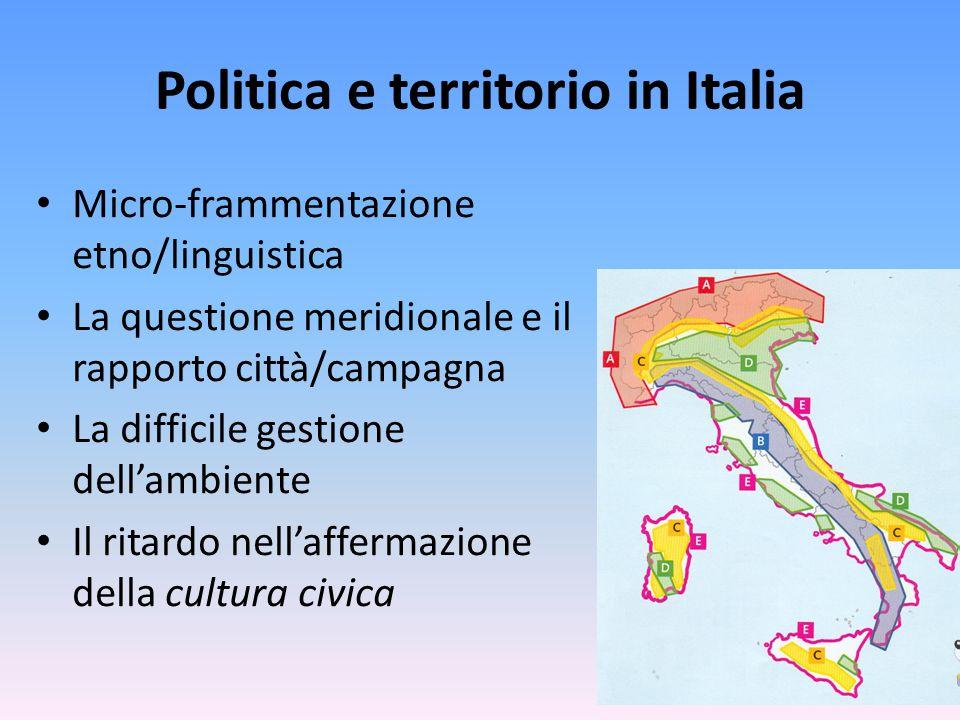 Politica e territorio in Italia