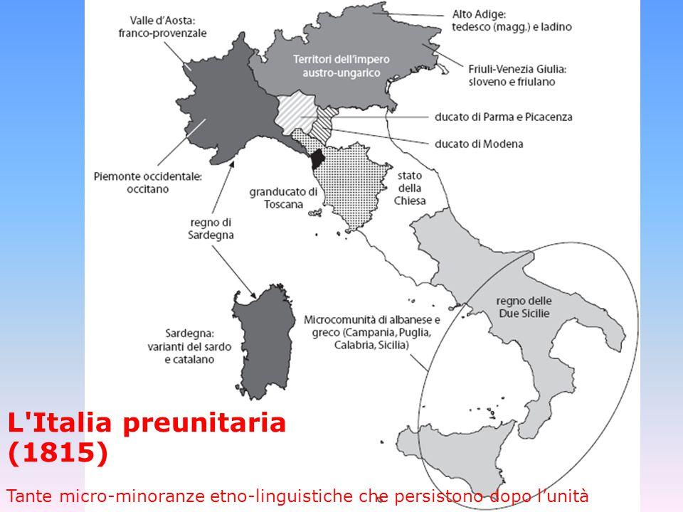L Italia preunitaria (1815)