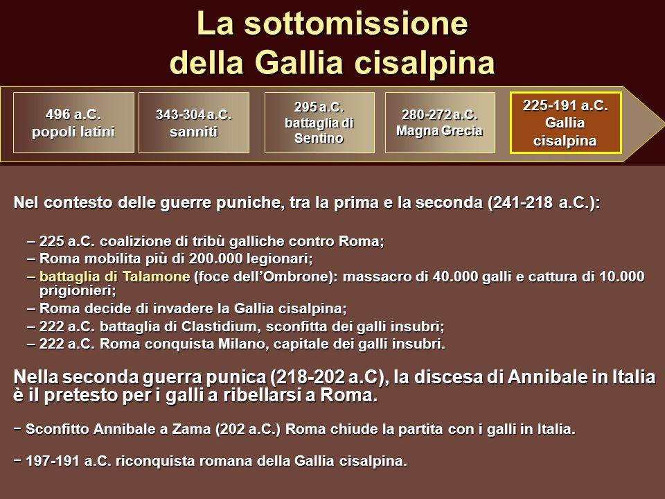 La sottomissione della Gallia cisalpina