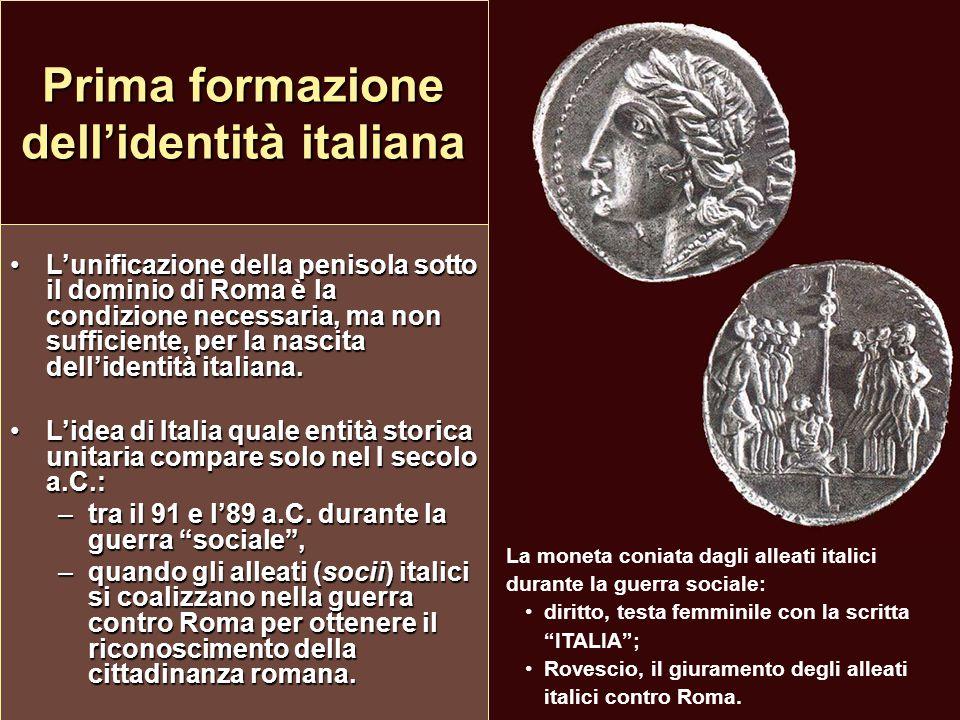 Prima formazione dell'identità italiana