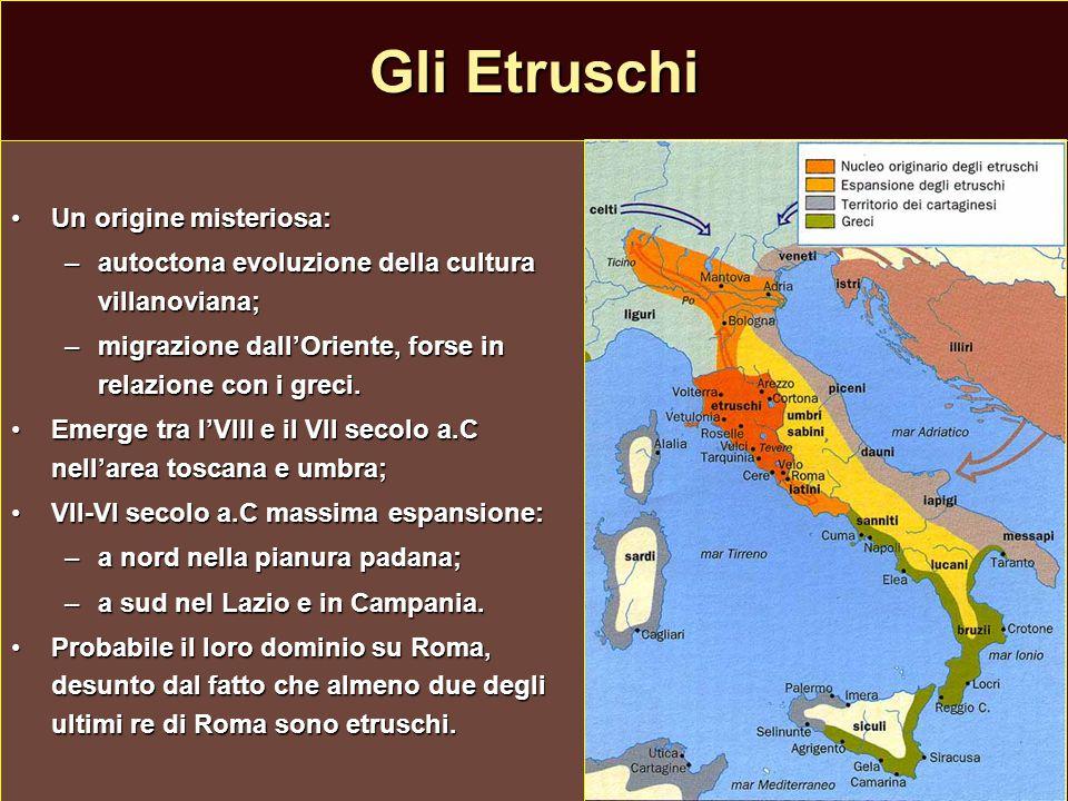 Gli Etruschi Un origine misteriosa: