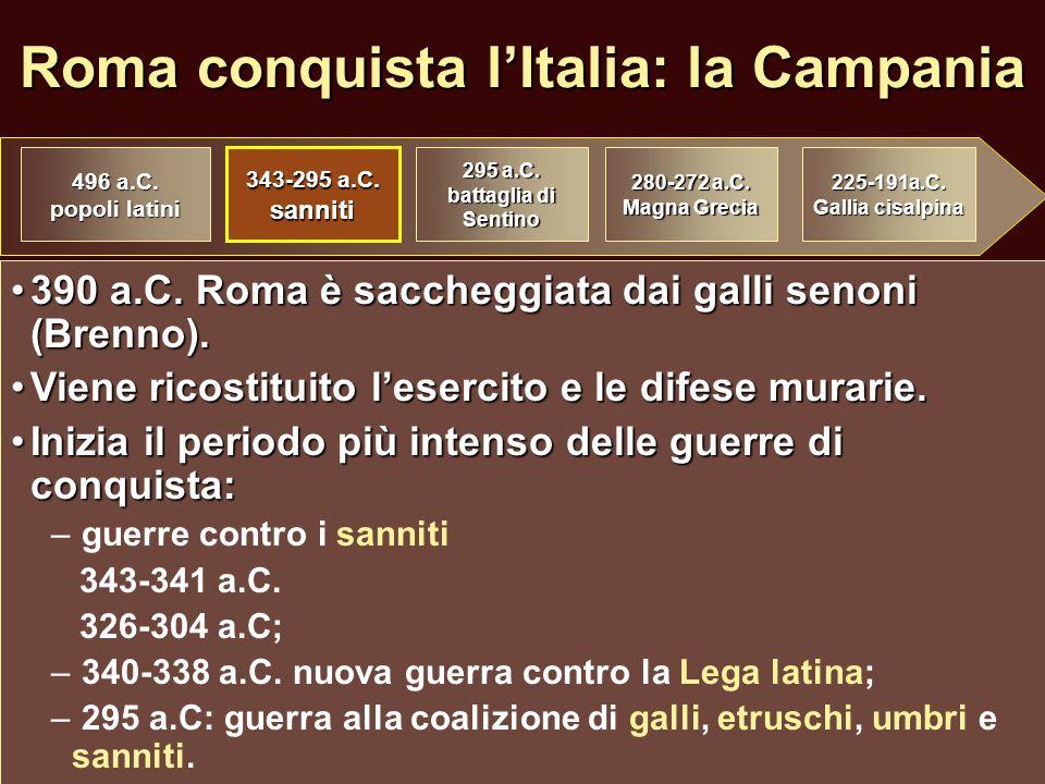 Roma conquista l'Italia: la Campania