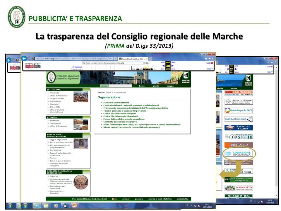 La trasparenza del Consiglio regionale delle Marche