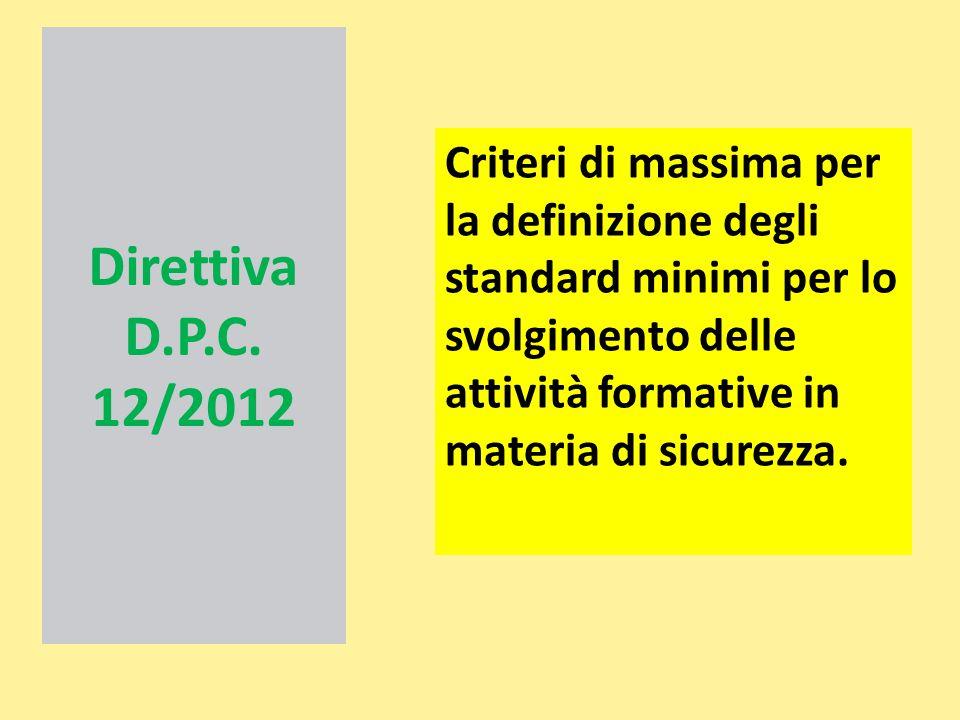 Direttiva D.P.C. 12/2012