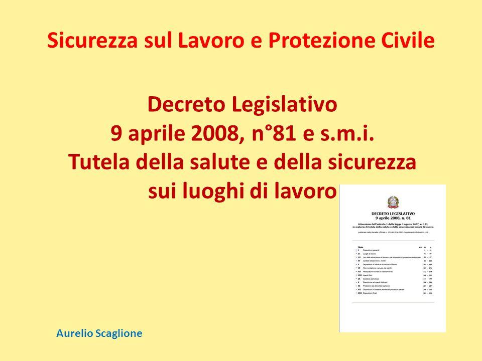 Sicurezza sul Lavoro e Protezione Civile