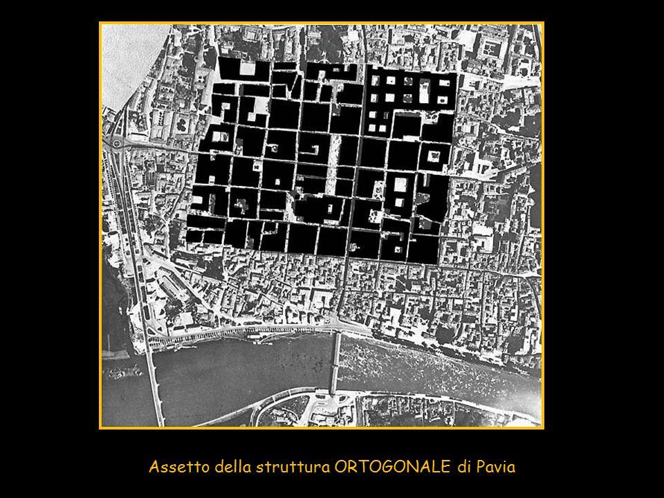 Assetto della struttura ORTOGONALE di Pavia