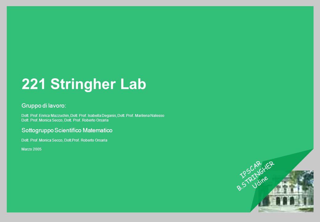 221 Stringher Lab Gruppo di lavoro: Sottogruppo Scientifico Matematico