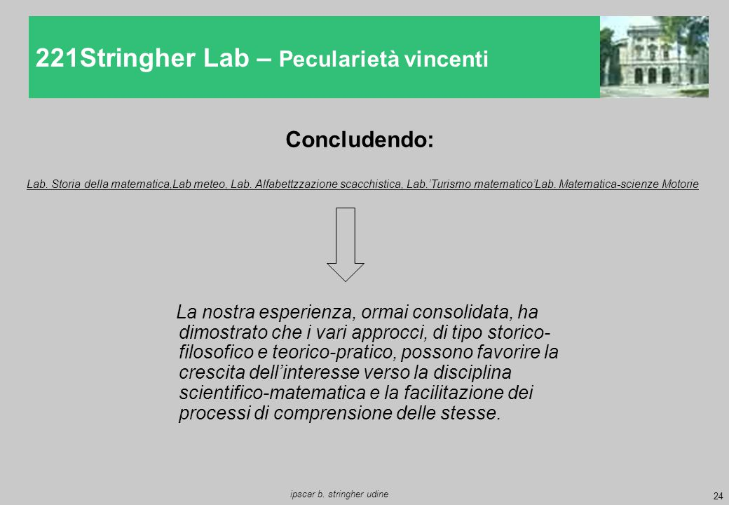 221Stringher Lab – Pecularietà vincenti