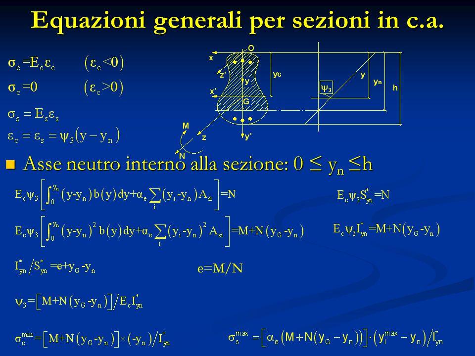 Equazioni generali per sezioni in c.a.