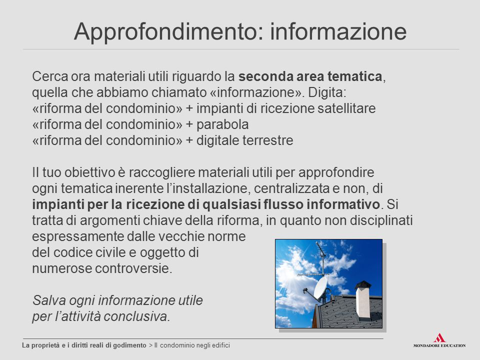 Approfondimento: informazione