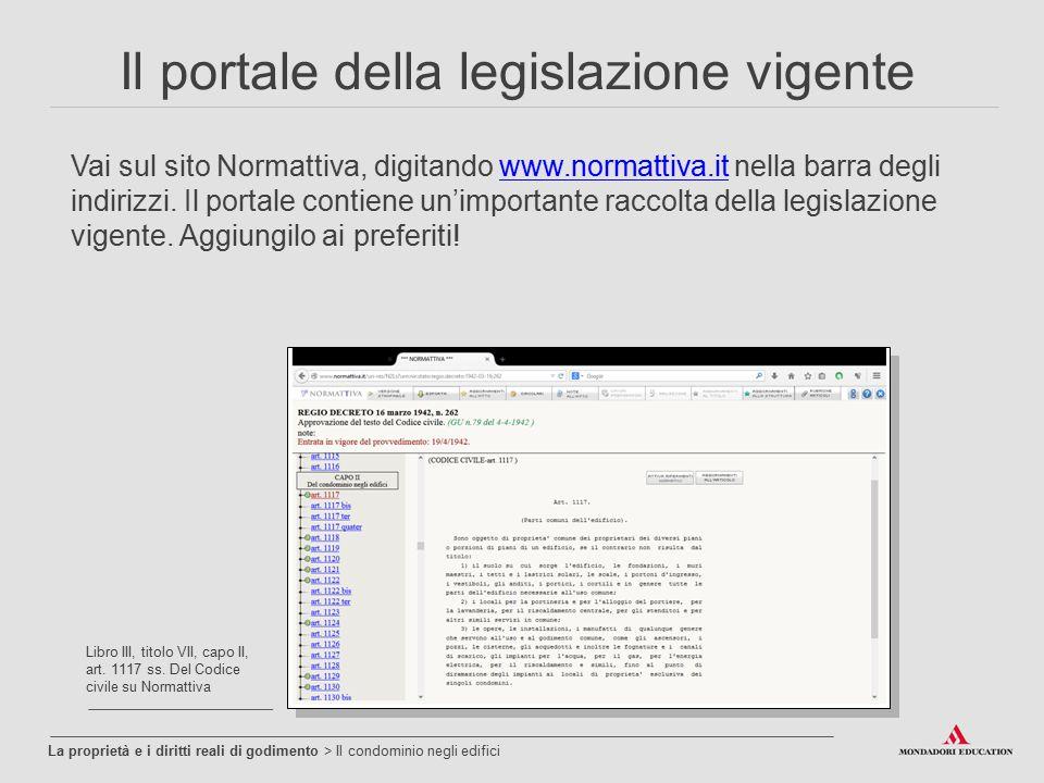 Il portale della legislazione vigente