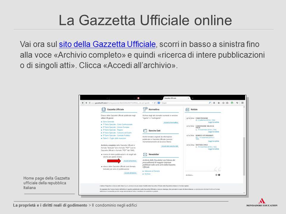 La Gazzetta Ufficiale online