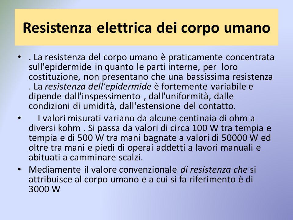 Resistenza elettrica dei corpo umano