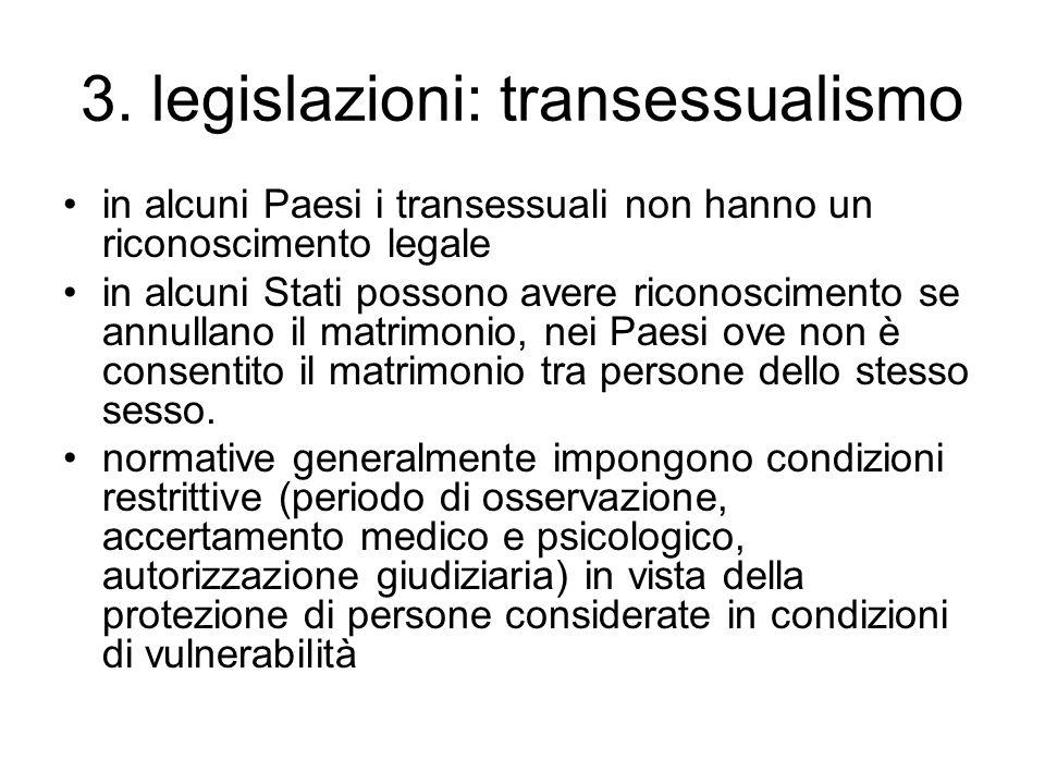 3. legislazioni: transessualismo