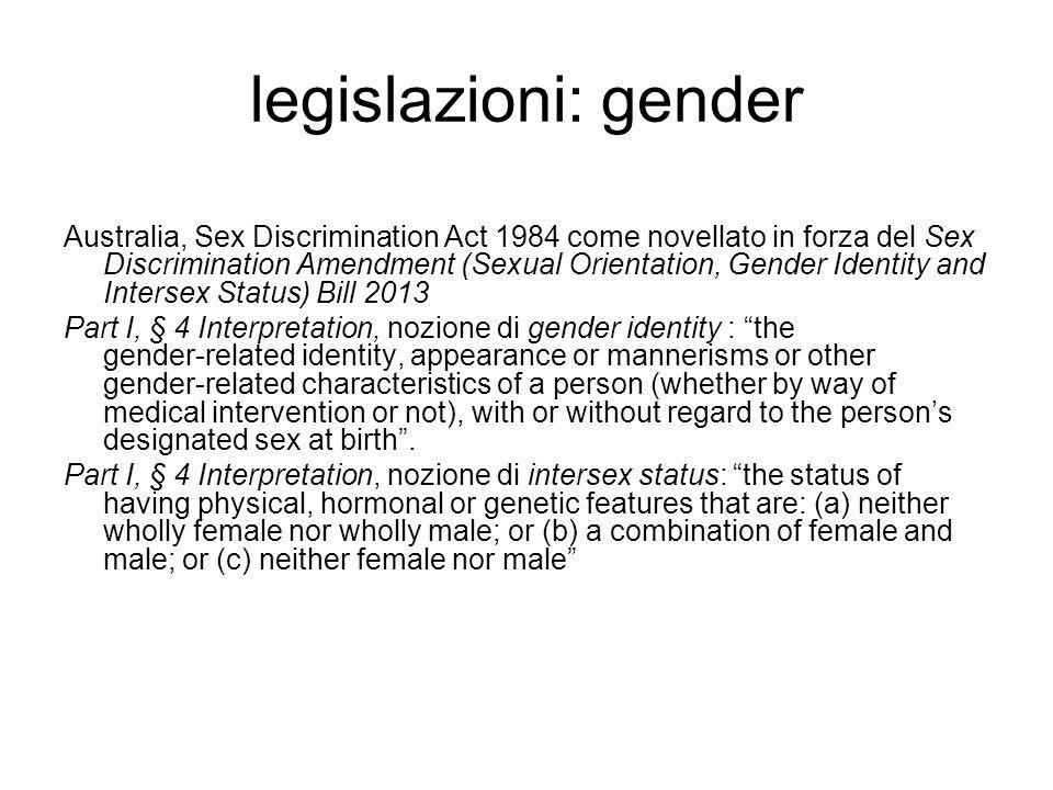 legislazioni: gender