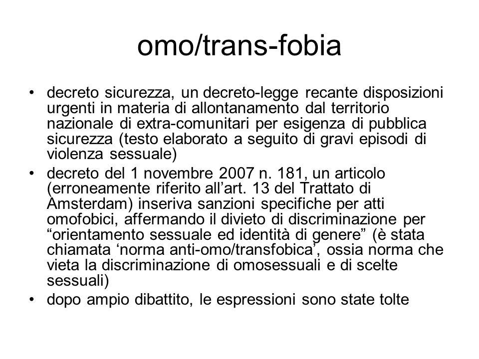 omo/trans-fobia