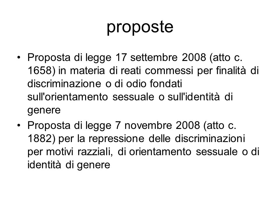 proposte