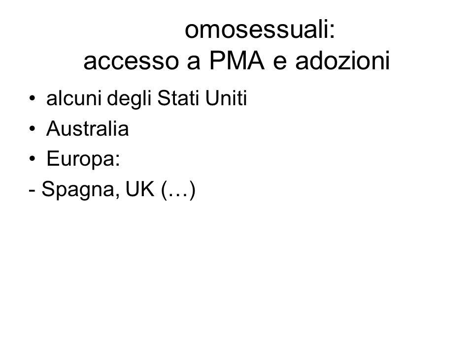 omosessuali: accesso a PMA e adozioni