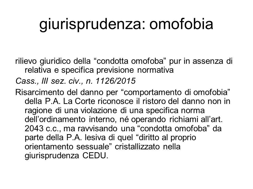 giurisprudenza: omofobia