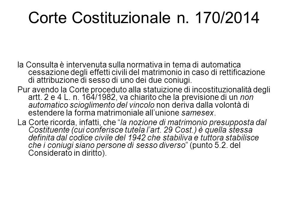 Corte Costituzionale n. 170/2014