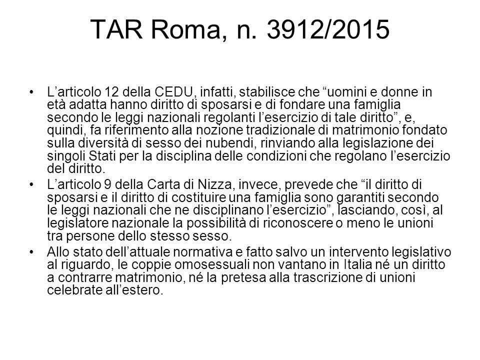 TAR Roma, n. 3912/2015