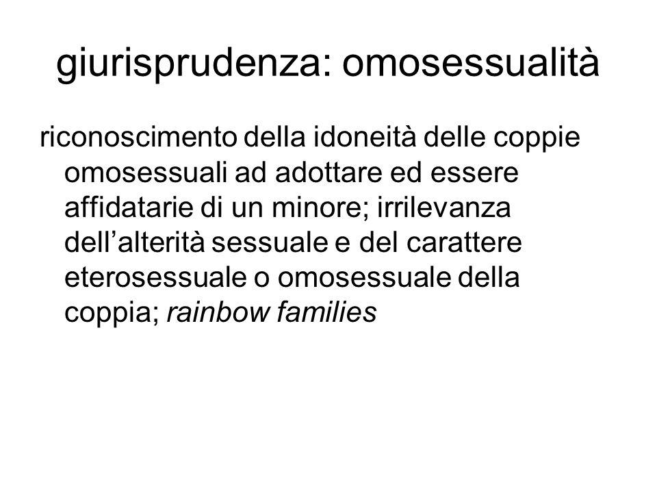 giurisprudenza: omosessualità