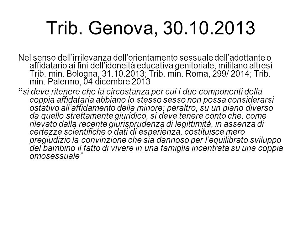 Trib. Genova, 30.10.2013