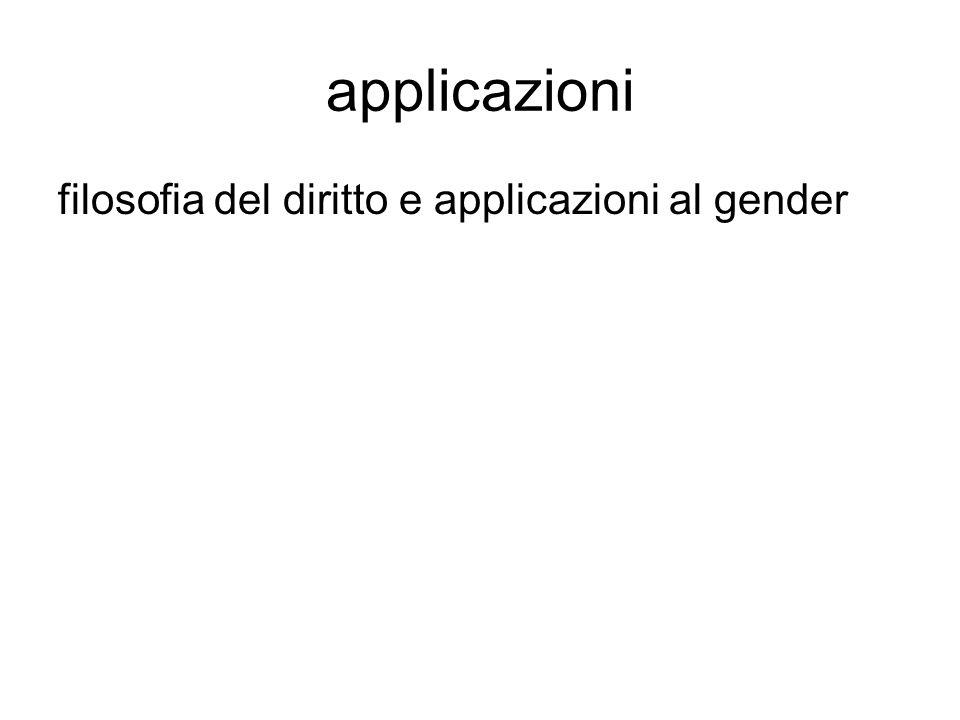 applicazioni filosofia del diritto e applicazioni al gender