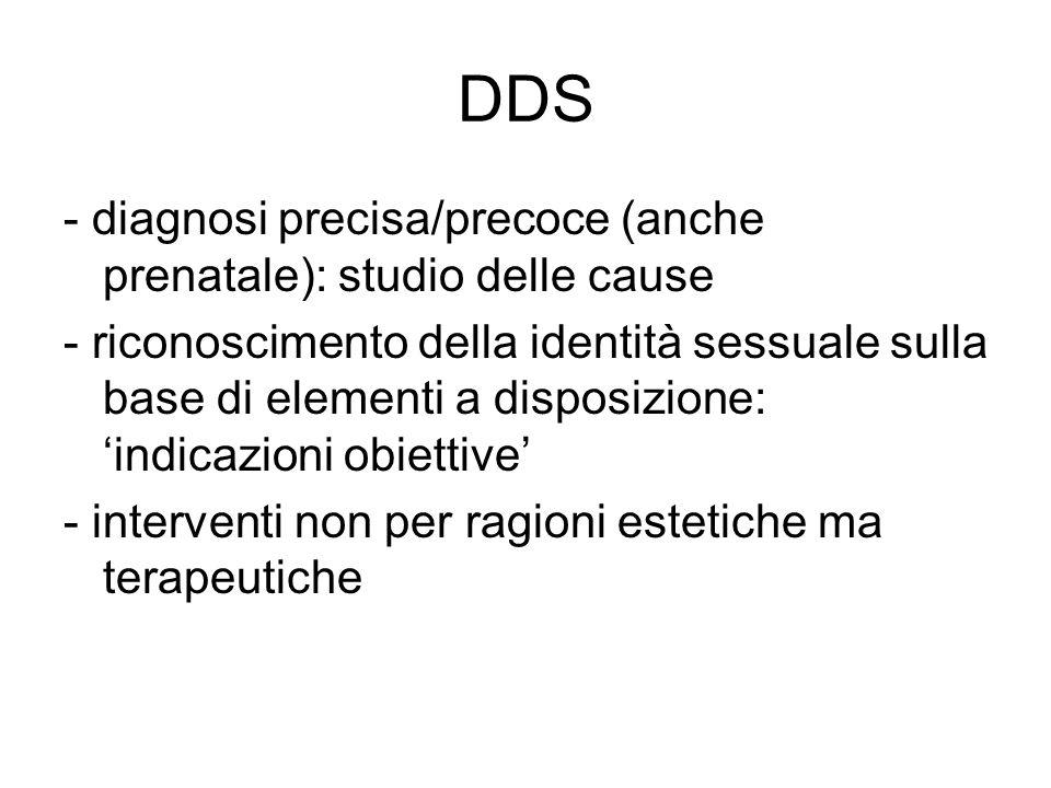 DDS - diagnosi precisa/precoce (anche prenatale): studio delle cause