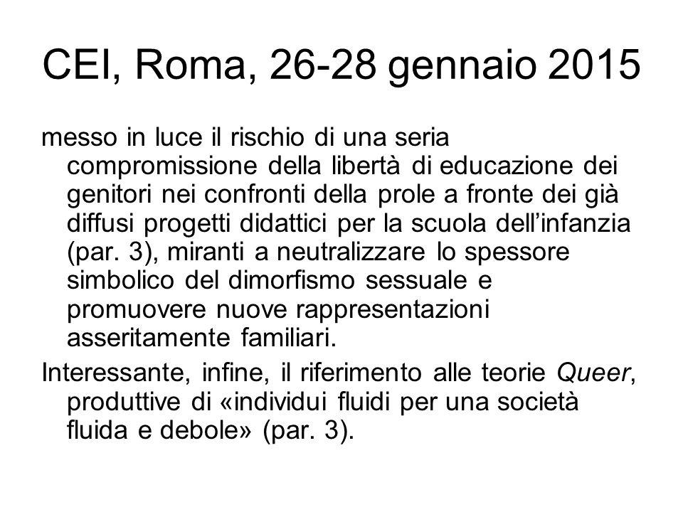 CEI, Roma, 26-28 gennaio 2015