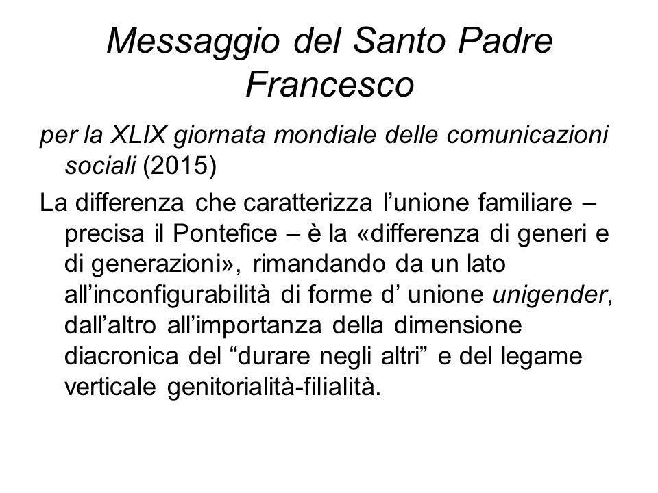 Messaggio del Santo Padre Francesco