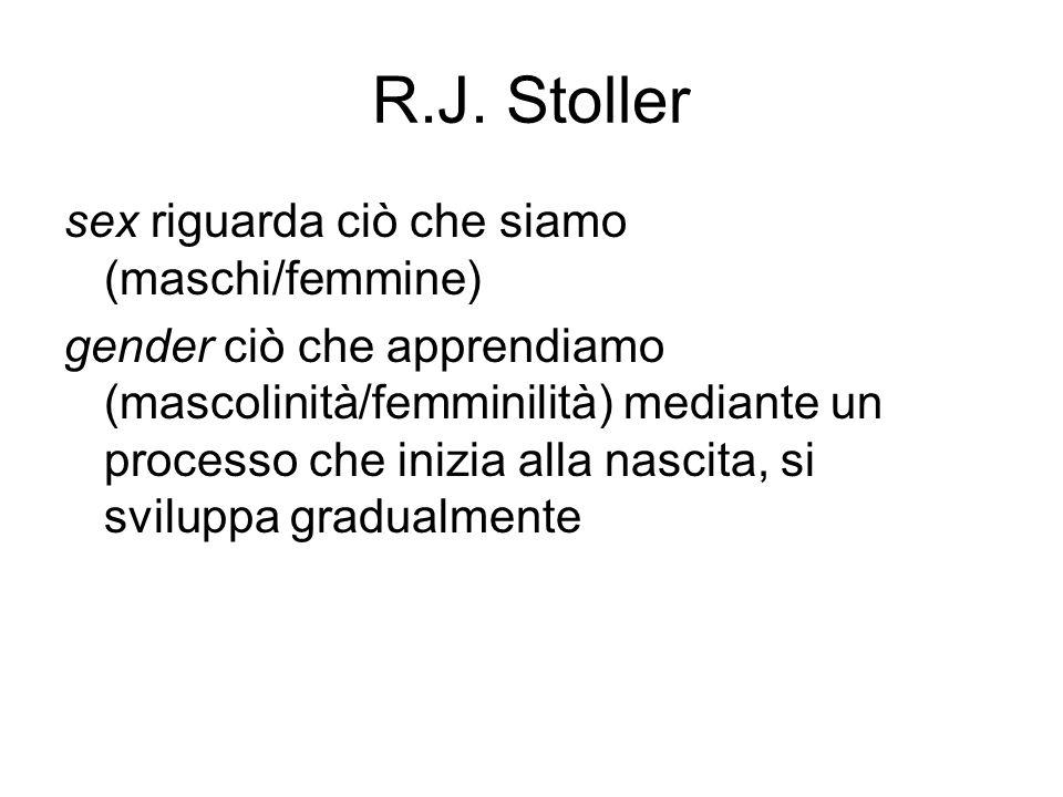 R.J. Stoller sex riguarda ciò che siamo (maschi/femmine)