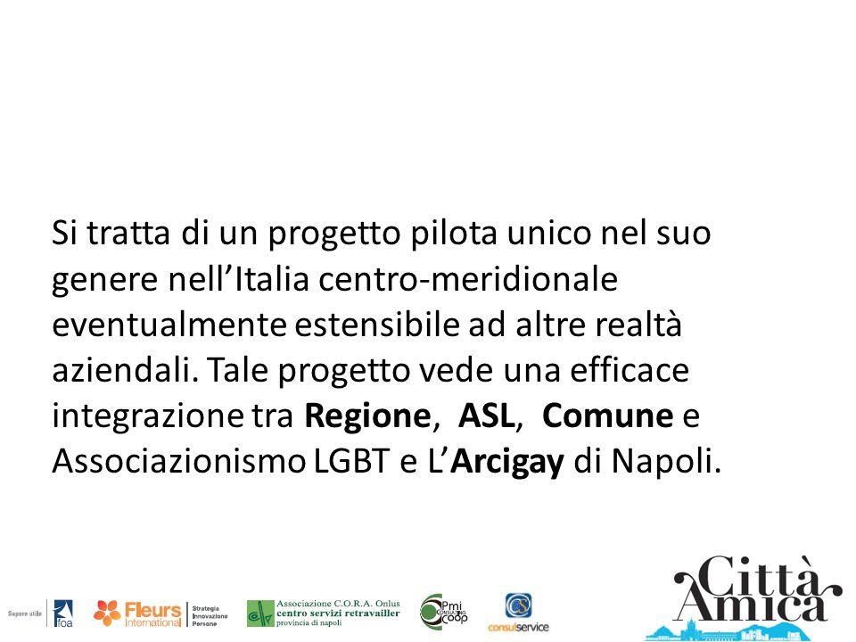 Si tratta di un progetto pilota unico nel suo genere nell'Italia centro-meridionale eventualmente estensibile ad altre realtà aziendali.