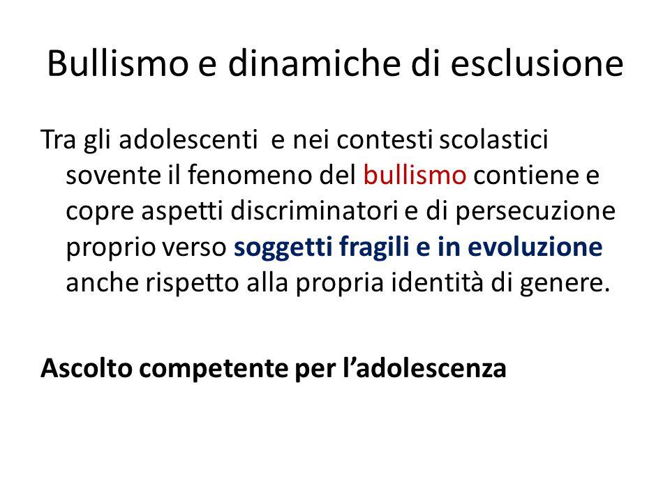 Bullismo e dinamiche di esclusione