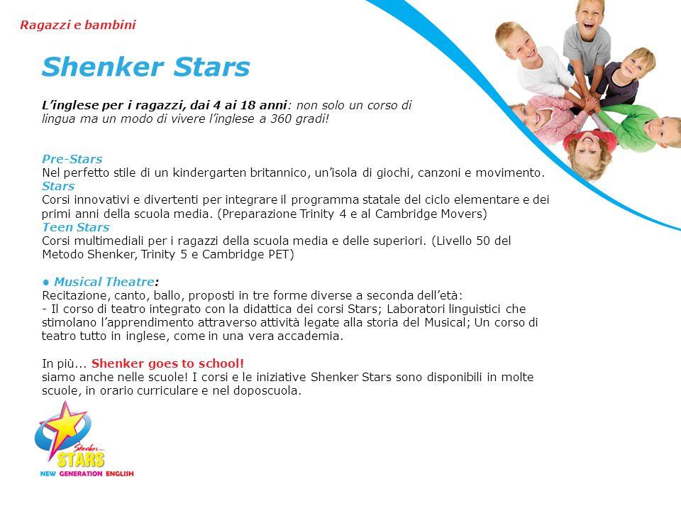 Shenker Stars Ragazzi e bambini
