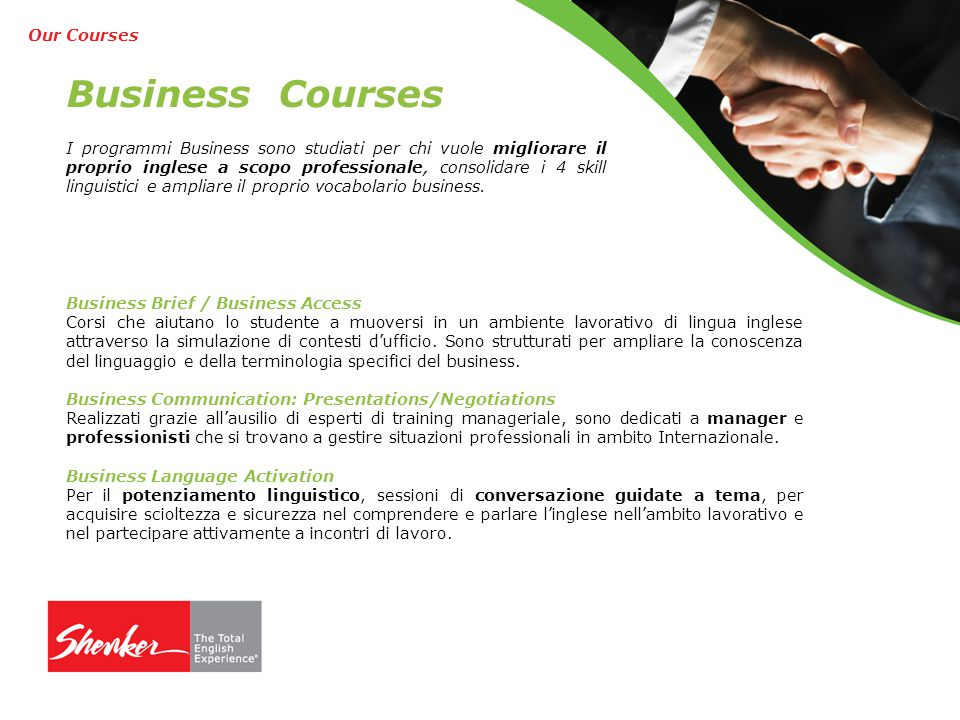 Business Courses Our Courses