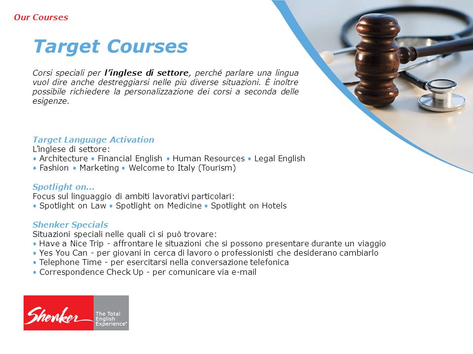 Target Courses Our Courses