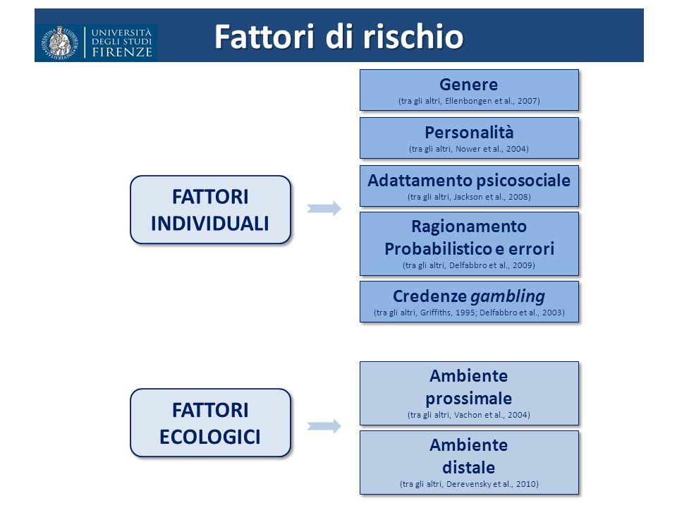 Adattamento psicosociale Probabilistico e errori