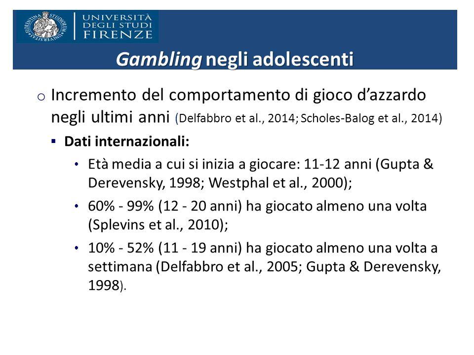Gambling negli adolescenti