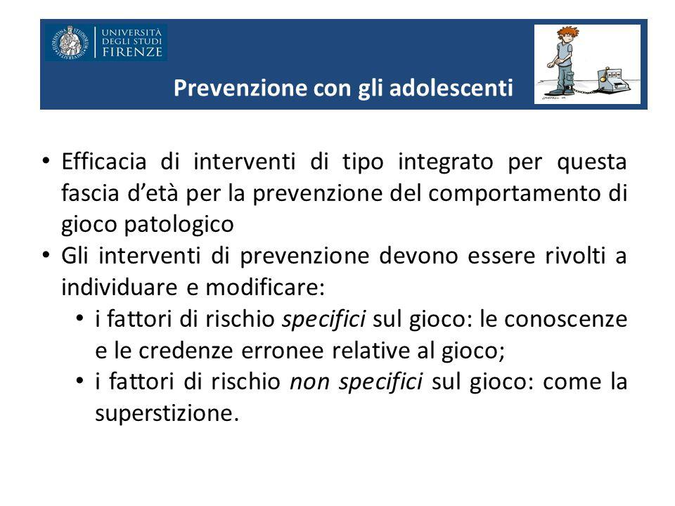 Prevenzione con gli adolescenti