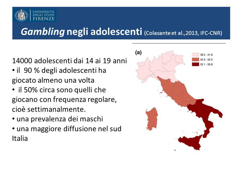 Gambling negli adolescenti (Colasante et al.,2013, IFC-CNR)