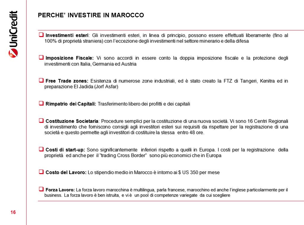 PERCHE' INVESTIRE IN MAROCCO