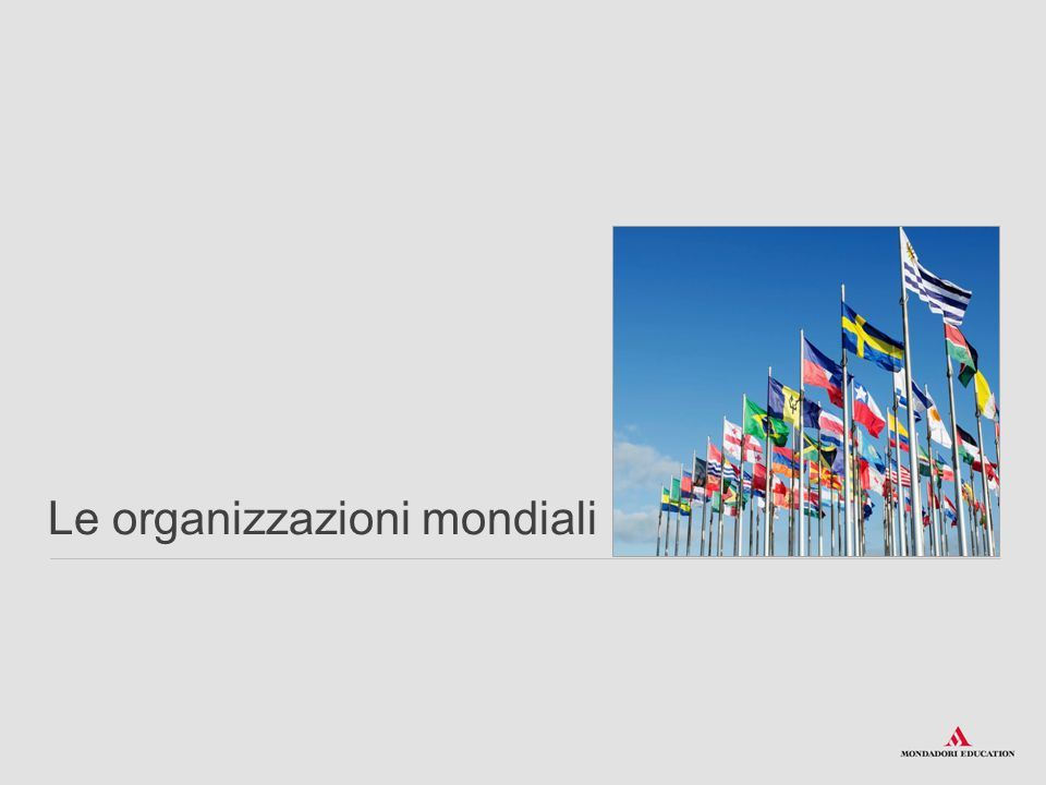 Le organizzazioni mondiali