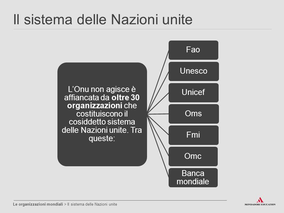 Il sistema delle Nazioni unite