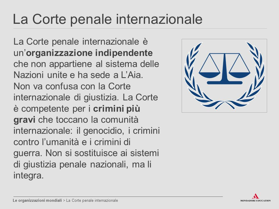 La Corte penale internazionale