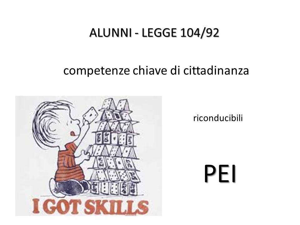 PEI ALUNNI - LEGGE 104/92 competenze chiave di cittadinanza